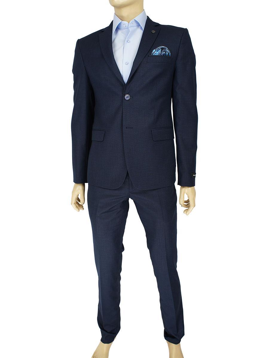 Стильный мужской костюм Daniel Perry C:267 #32 D.Blue