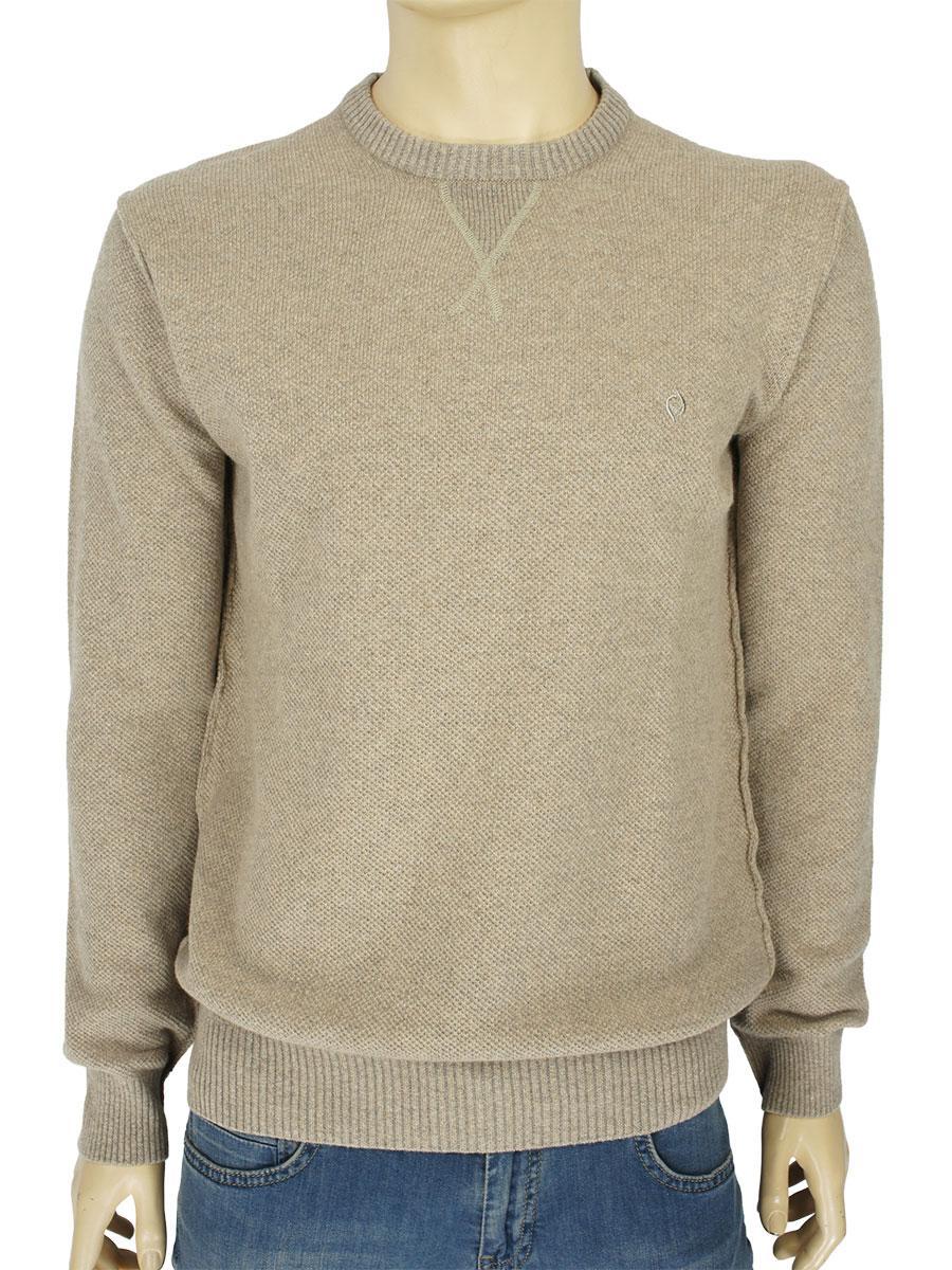 Однотонный мужской свитер Fabiani 7307 Bej