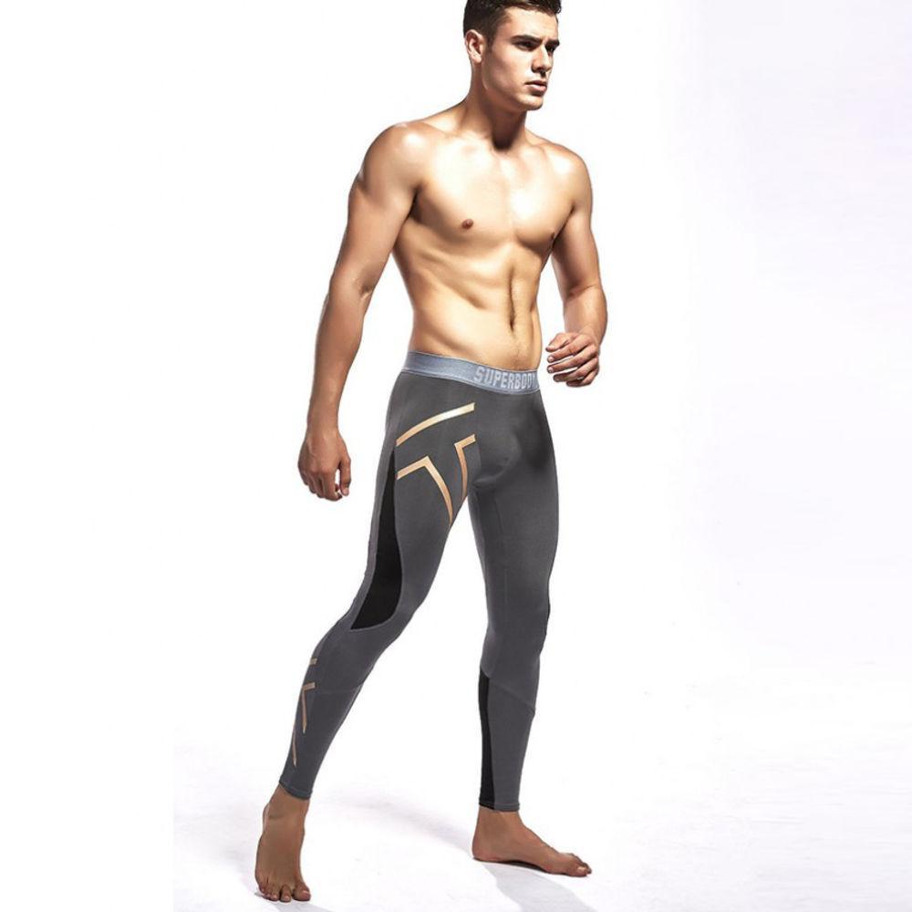 Серые штаны для спорта SuperBody