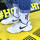 """Білі шкарпетки з написом """"Лівий коронний - Правий похоронний"""", фото 4"""