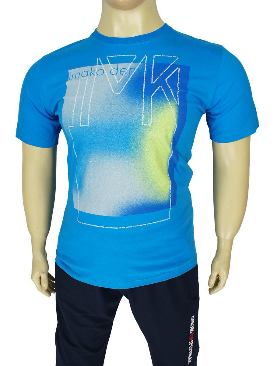 Мужская стильная футболка Imako M:DEZYDERIUSZ  в синем цвете