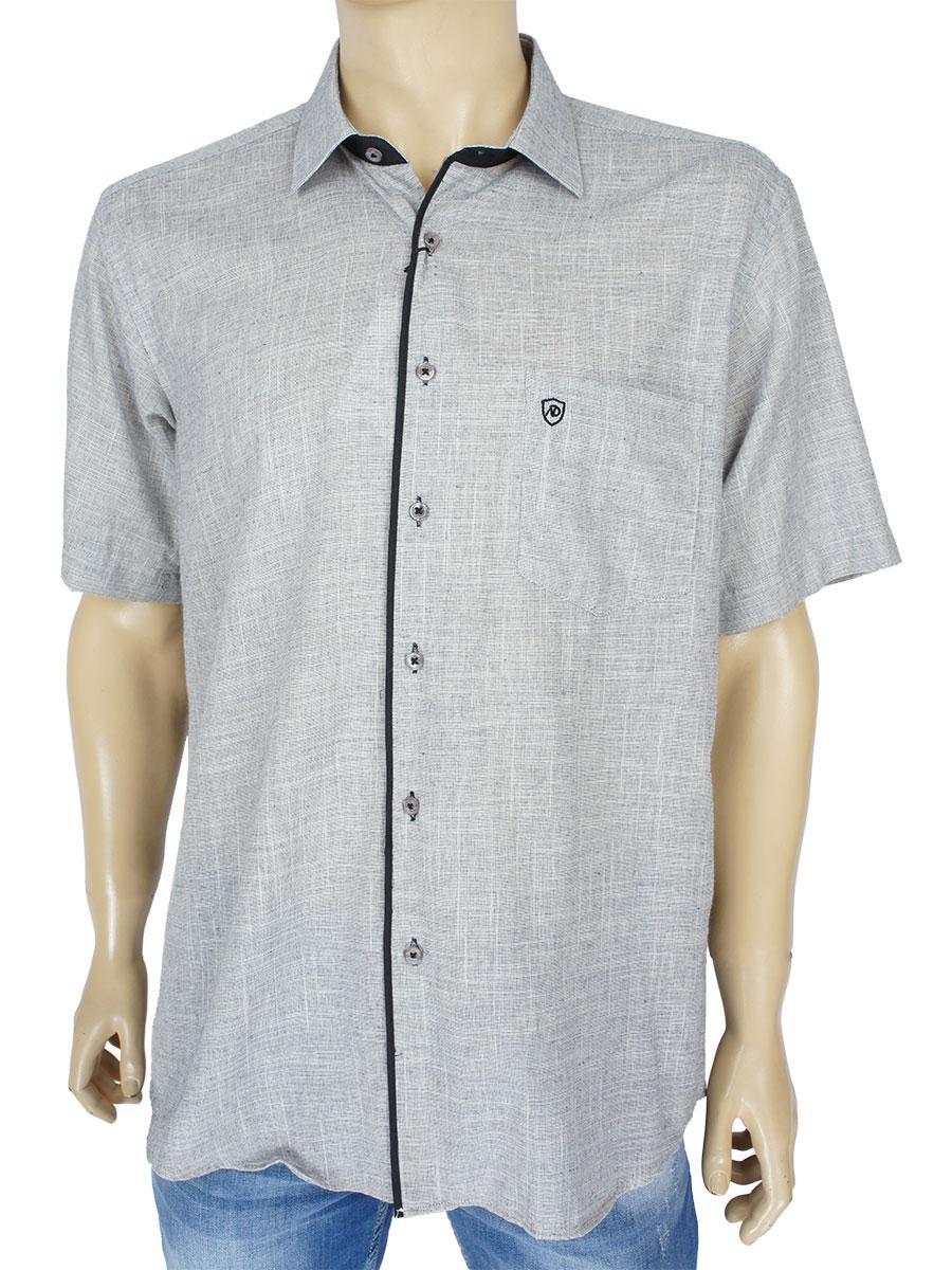 Мужская льняная рубашка Negredo 1038#15 grey