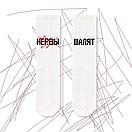"""Білі шкарпетки з написом """"НЕРВИ ПУСТУЮТЬ"""", фото 2"""