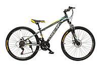 """Велосипед Oskar 26""""M129 серый (рама - сталь, переключатели Snimano)"""