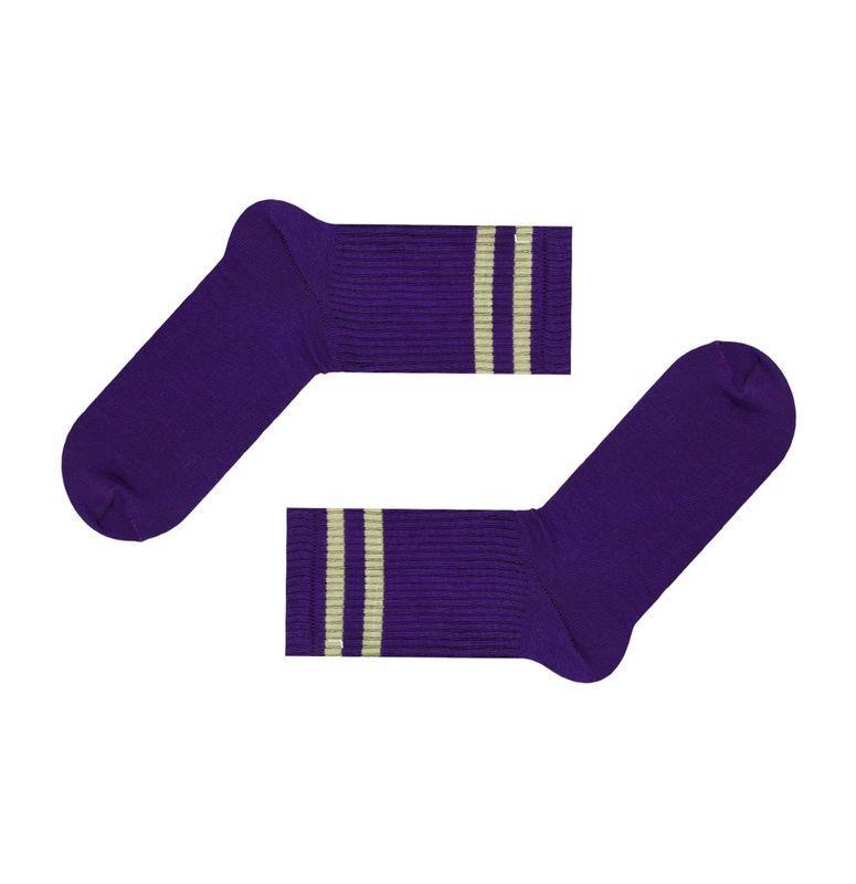 Фиолетовые спортивные носки с полосками SOX