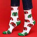 """Белые носки с зеленой пяткой и носком """"Ugly свитер"""" от SOX, фото 2"""