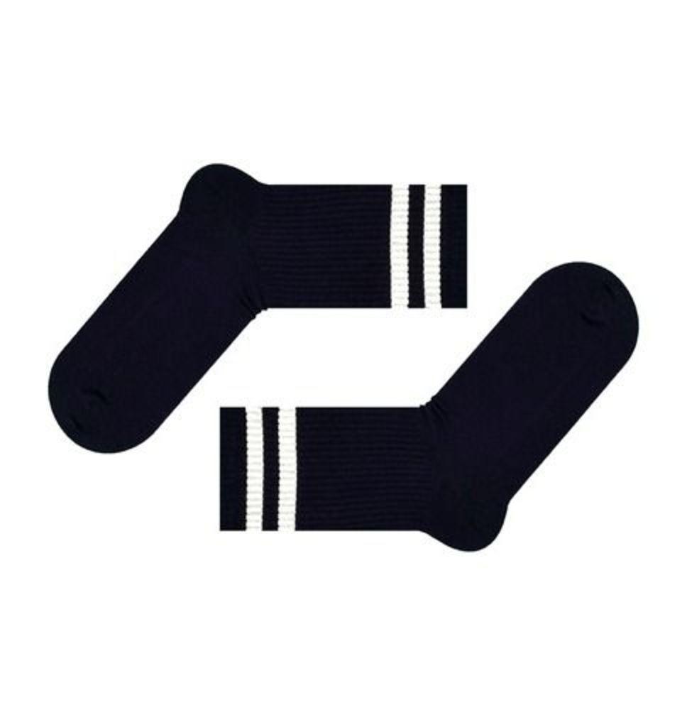 Темно-сині шкарпетки з білими смужками SOX