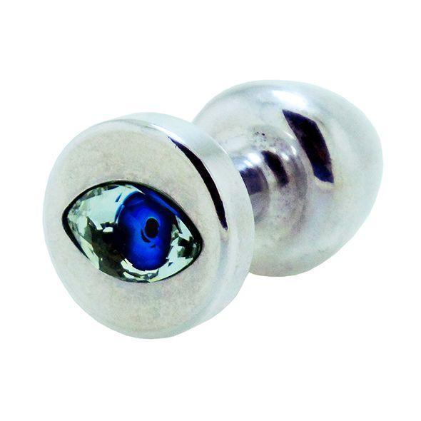 Анальная пробка со стразом Diogol Anni R Eye Silver Кристалл 30мм