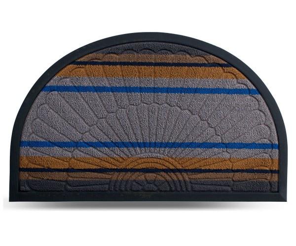 Килим гумовий Dariana Multicolor 45*75 см, напівовал. з ворсовим покриттям (св.-сірий)