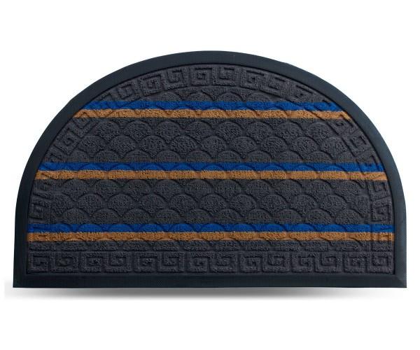 Килим гумовий Dariana Multicolor 45*75 см, напівовал. з ворсовим покриттям (темно-сірий)