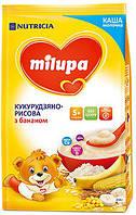 Молочная каша Milupa сухая быстрорастворимая кукурузно-рисовая с бананом, 210 г