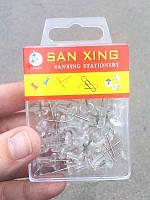 Кнопки с держателем прозрачные 30-53 (гвозди для доски)