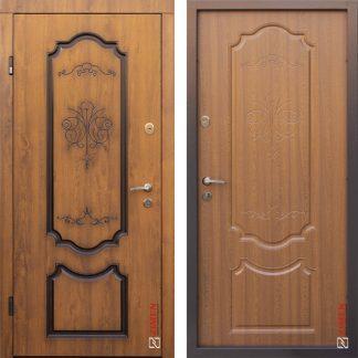 Дверь входная металлическая ABWEHR,Blanca № 399,Nova,Avers,Дуб золотой,Патина ,960х2050,левая