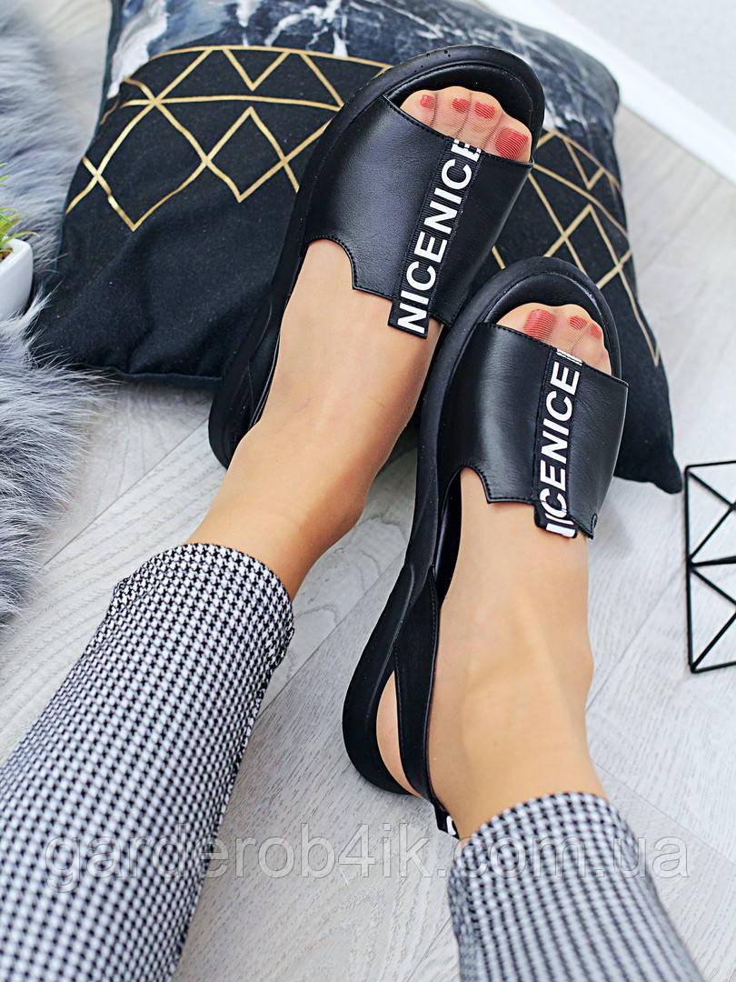 Жіночі босоніжки шкіряні сандалі