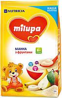 Молочная каша Milupa манная с фруктами, 210 г