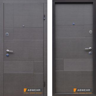 Дверь входная металлическая ABWEHR,  Дуэт (350),Nova,Avers,Венге серый горизонт,860х2050, правая