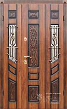 Дверь входная металлическая ABWEHR, 128 Agnia ковка, Vinorit Дуб золотой + патина,1200х2050,Левая