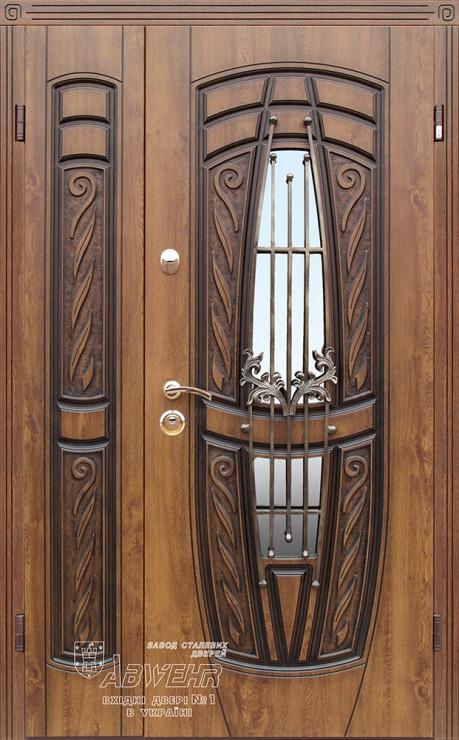 Дверь входная металлическая ABWEHR, 209 Gracia ковка,Kale, Vinorit Дуб золотой + патина,1200х2050,левая