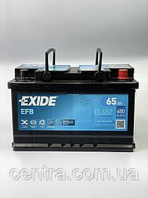 Автомобильный аккумулятор EXIDE EFB EL652 65Ah R+