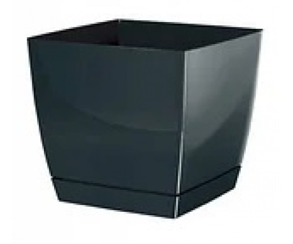 Вазон Prosperplast Коубі (квадр.) 10 см (антрацит)