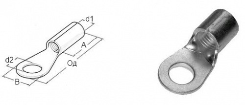 Кабельный наконечник (4-6 М6) со сжимным кольцом HAUPA