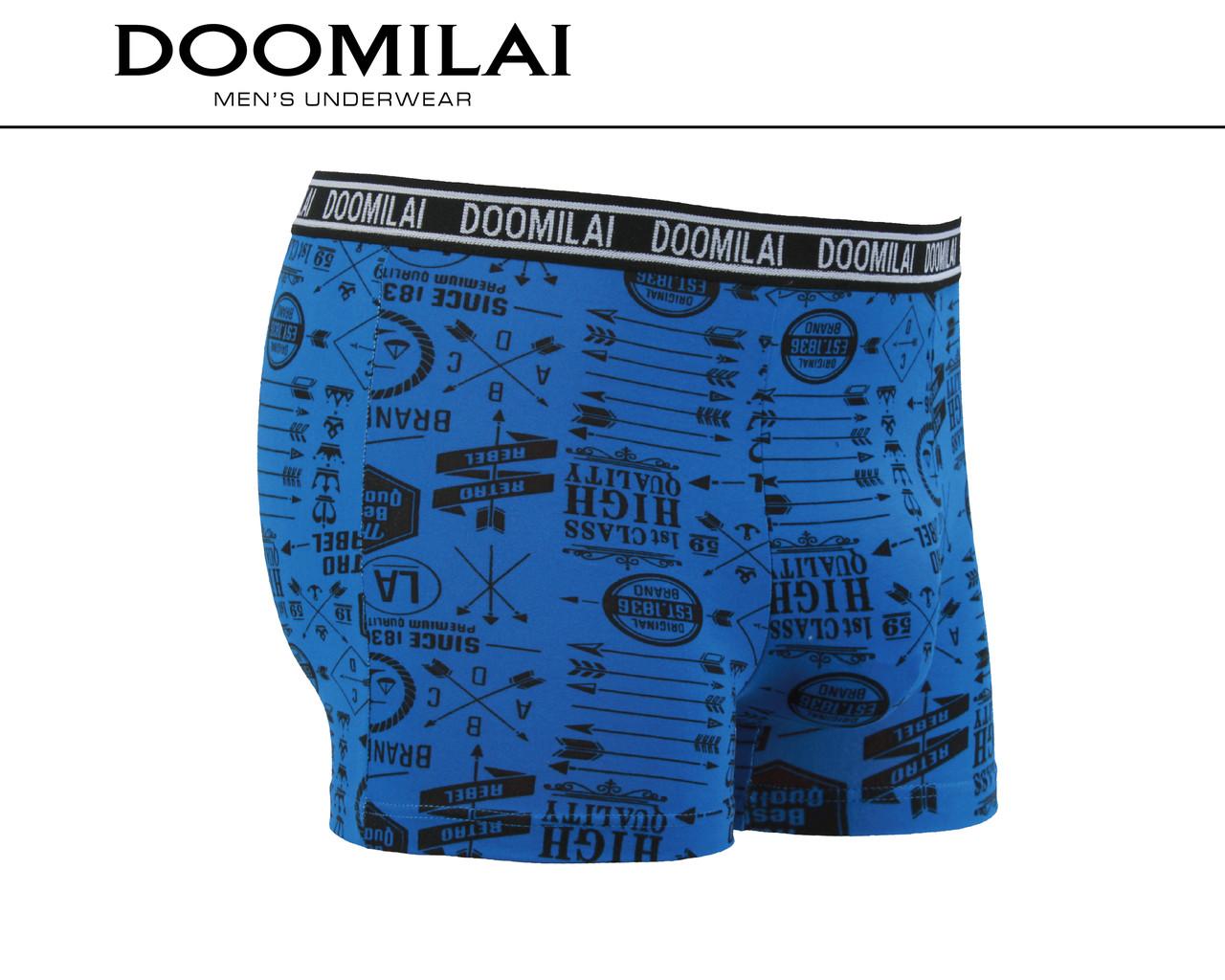 Мужские боксеры стрейчевые из бамбука  Марка  «DOOMILAI» Арт.D-01373