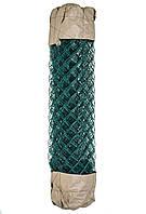 Сетка Рабица металлическая зелёная 50х50, диаметр 3.5мм, высота 1.50м, рулон 10 м