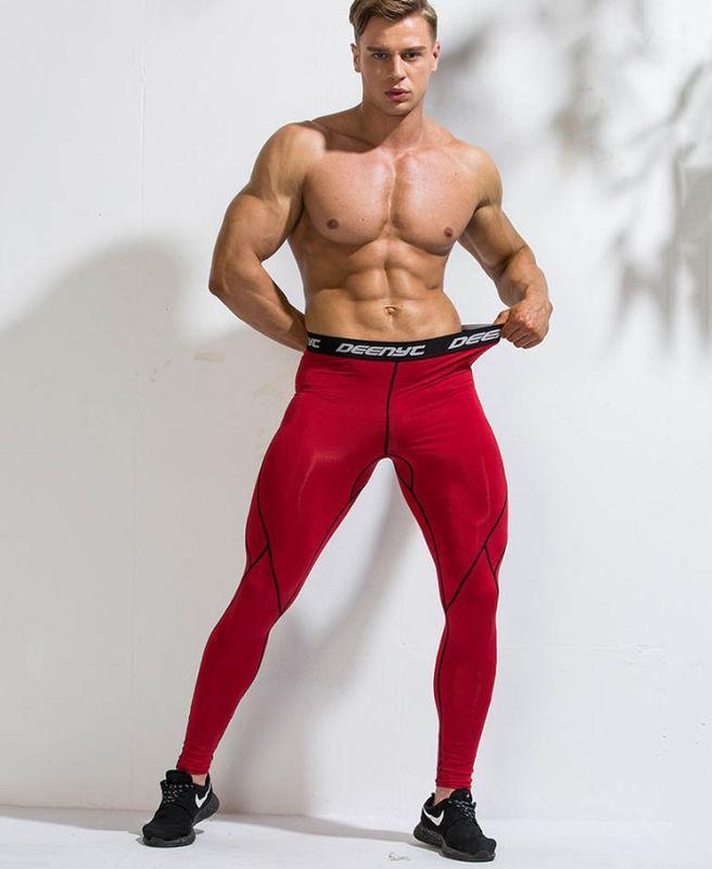 Красивые спортивные штаны Deenyt красного цвета