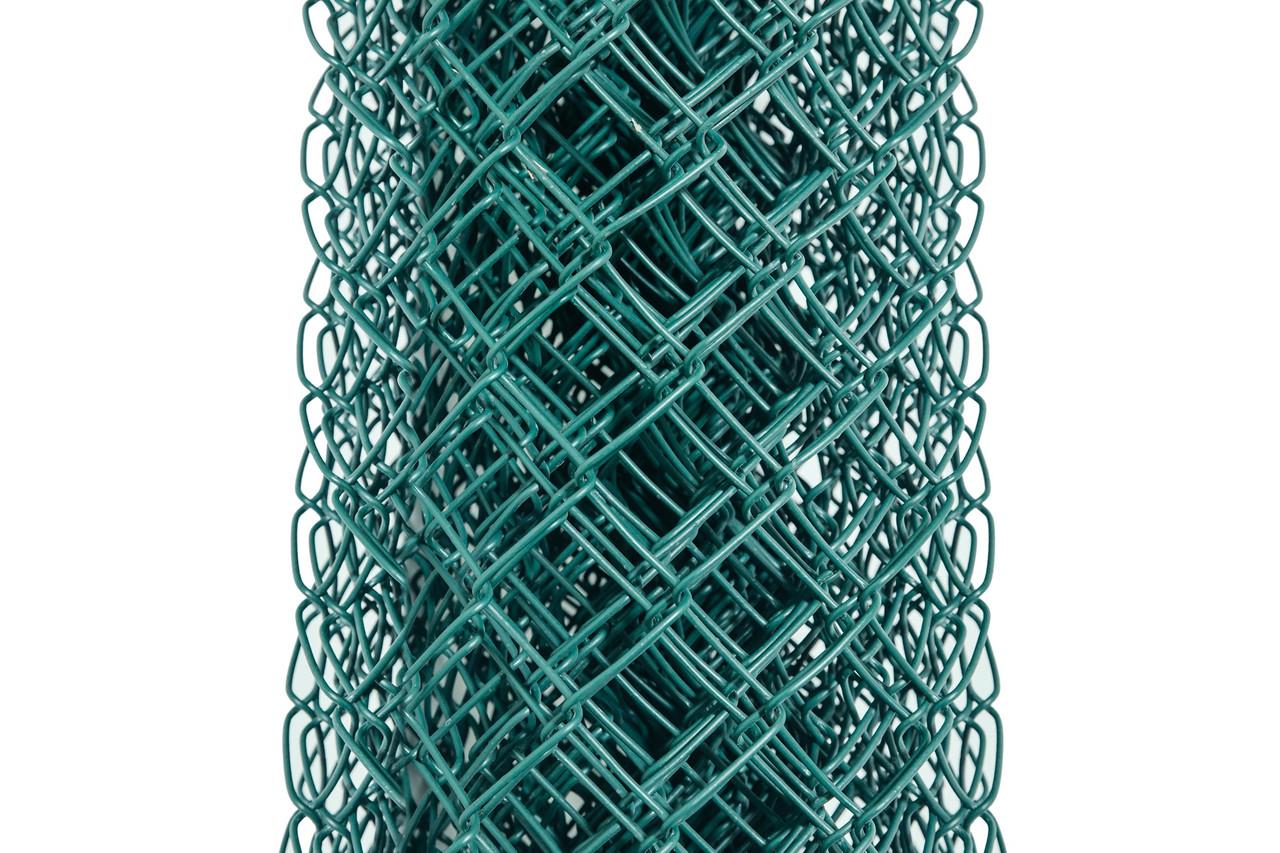 Сетка Рабица металлическая зелёная 50х50, Ø 3,5 мм, высота 2,0 м, рулон 10 м