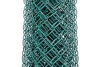 Сетка Рабица металлическая зелёная 50х50, Ø 3,5 мм, высота 2,0 м, рулон 10 м, фото 1