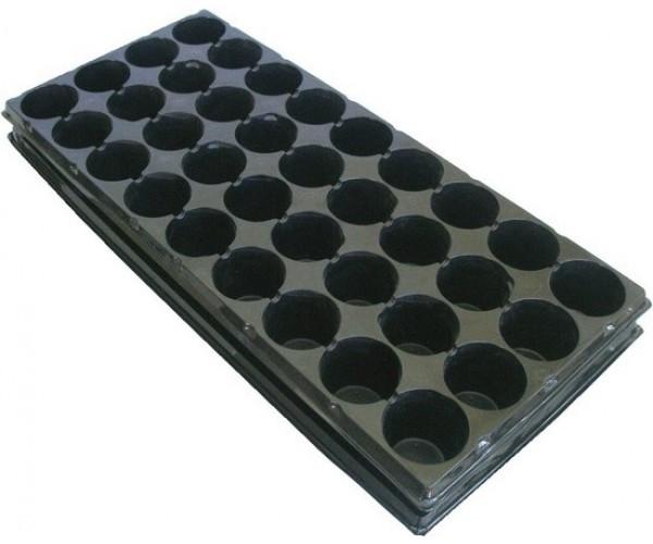 Касета пластік. з піддоном на 36 ячейок 44*20,5*4,0см