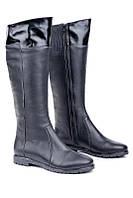 Черные кожаные сапоги Fit, байка