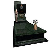 Пам'ятник із зеленого граніту Маславка 5031/з