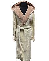 Халат женский махровый теплый длинный (софт), размер S, Soft Show