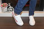 Кеди жіночі білі з червоними вставками Т1050, фото 3