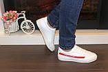 Кеди жіночі білі з червоними вставками Т1050, фото 4