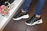 Кроссовки женские черные Т1054, фото 3