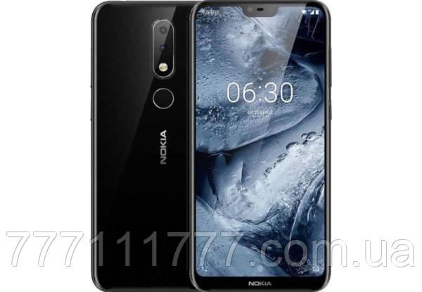 Смартфон с большим дисплеем и хорошей двойной камерой на 2 сим карты Nokia X6 TA-1099 6/64Gb black