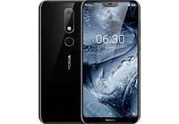 Смартфон с большим дисплеем и хорошей двойной камерой на 2 сим карты Nokia X6 TA-1099 6/64Gb black, фото 1