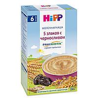 Молочна каша HiPP 5 злаків з чорносливом з пребіотиками, 250 г