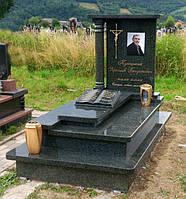 Одинарний пам'ятник з Маславського граніту S073