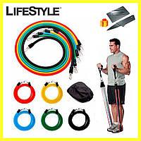 Эспандер для фитнеса / Резинки для тренировок / Набор - Комплект из 5 штук + Нож-визитка в Подарок