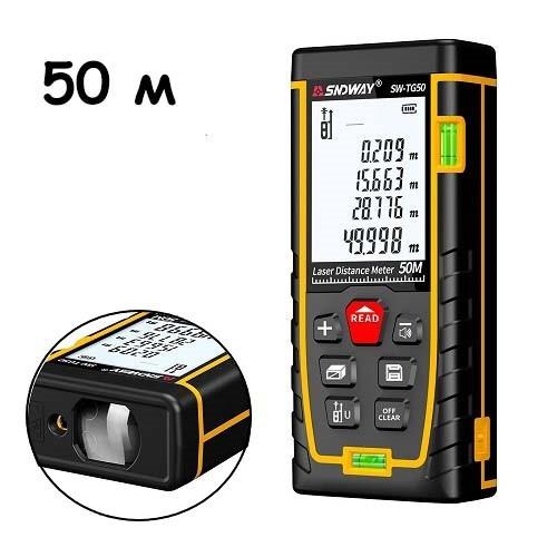 Дальномер лазерный, лазерная рулетка до 50м SNDWAY SW-TG50 2006-00947