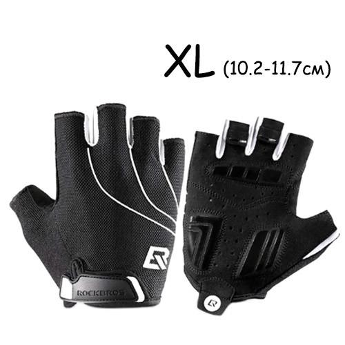 Перчатки велосипедные без пальцев гелиевые XL, 10-11.7см, RockBros S107 2006-03841