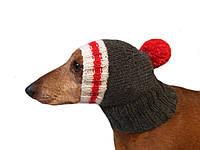 Зимняя шапка для маленькой собаки,шапка для таксы