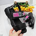 Женские черные босоножки на платформе, экокожа, фото 7