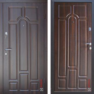 Дверь входная металлическая ABWEHR,Artemida,Уют,Avers,Орех темный ,960х2050,левая