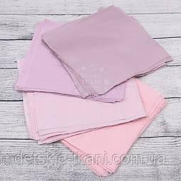 Набор для пэчворка из лоскутов в пастельных розовых тонах №152