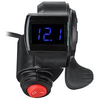 Рычажная ручка газа на электровелосипед с индикатором заряда и кнопкой на 2 положения