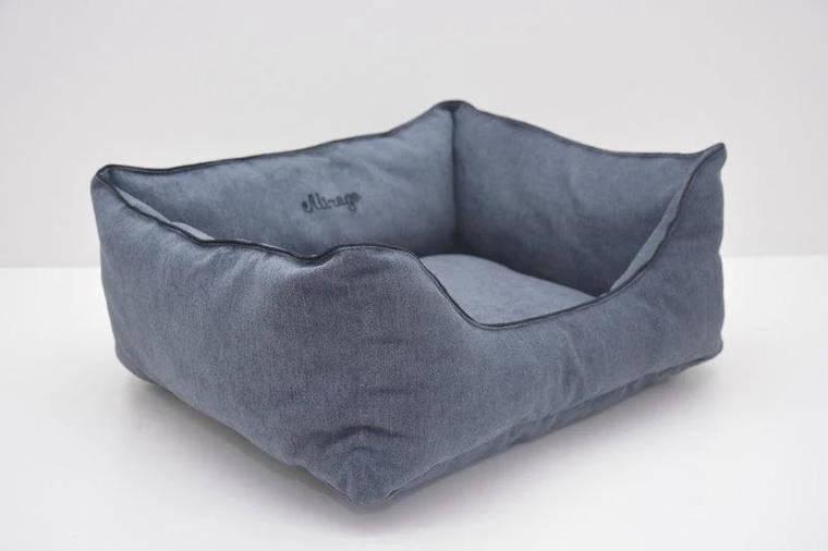 Лежак Лори Мираж №5 70 х 100 х 25 см Серый, фото 2